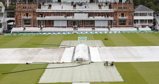 Rain delays play on Day 1 at Lord's